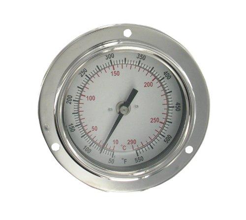 Dwyer Panel Mount Bimetal Stem Thermometer, BTPM240101, 0-200°F, 4