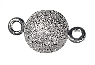 uGems Stardust Sparkle Sterling Silver 8mm Magnetic Bead Clasp by ugems
