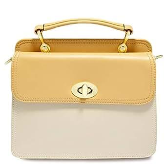 Dilaks 26061 Baguette Bag for Women - Synthetic, Beige