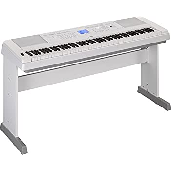 Yamaha DGX-660 88-Key Weighted Action Digital Grand Piano with Matching Stand, White