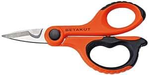 Betakut 220 - Tijeras de electricista con mango bimaterial, color naranja y negro