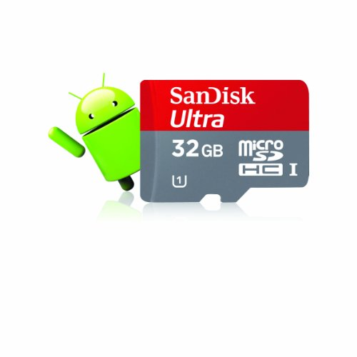 SanDisk Ultra 32 GB microSDHC Class 10 UHS-1 Memory Card 30MB/s with Adapter SDSDQUA-032G-U46A