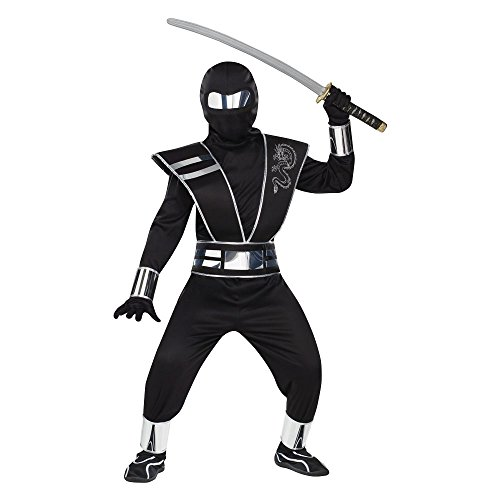 Silver Mirror Ninja Kids Costume -