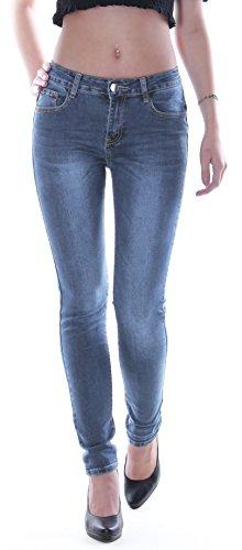 2 station24 Donna Straight Jeans Style Blau qXwdAWt7