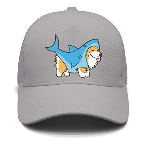 Unisex Corgi Dog in a Shark Suit Strapback Hat Adjustable Visor Hats caps ()