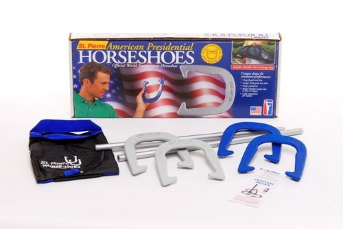 Horseshoes St Pierre - St Pierre Sports American Professional Outfit in Nylon Tote Bag, Blue/Gray