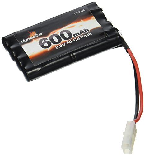 Pack Toy Battery - Dynamite 9.6V 8-Cell 600mAh NiCd Battery Toy Pack