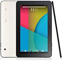 10.1 Android 4.4.2 KitKat 8GB Quad Core Tablet PC, Bluetooth, Dual Camera, Wifi, Google Play, Supports 3D Games, White with Black Front, New 2015 Model by LevecTec ...