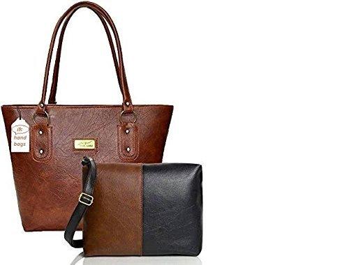 JFC Women's Handbag And Sling Bag Combo(Hs-Combo-Tb,Multicolor)