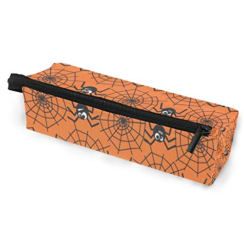 Sunglasses case Halloween Spider Webs Pen Pencil Case Stationery Pouch Storage Box Cosmetic Bags Eyeglasses Bag with Hanging Loop -