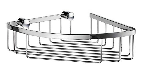 SMEDBO Sideline 6.5 in. Corner Soap Basket in Polished Chrome Finish