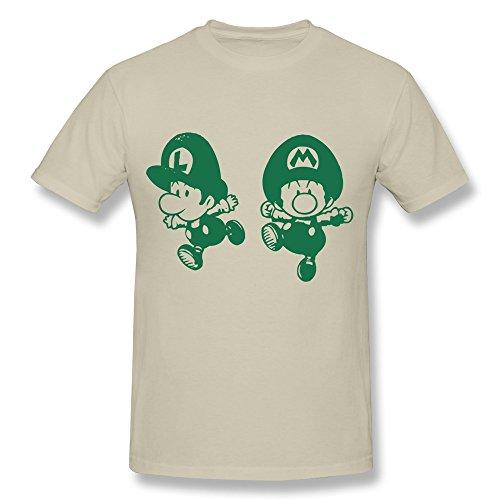 KEMING Men's Little Mario And Luigi Mario T-shirt XL