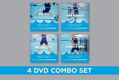 WECOACH 4 Water Exercise DVD COMBO SET (Best Cane For Balance Problems)