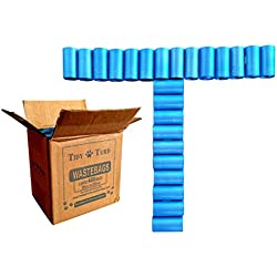 Tidy Turd Poop Bags - 480 Large Unscented Disposable Poo Pouches - For All Waste - Dog, Cat Litter, Dispensers, Camping & Baby Diapers Sacks - Fits Over Pet Pooper Scoopers! Bulk Set of Refill Rolls