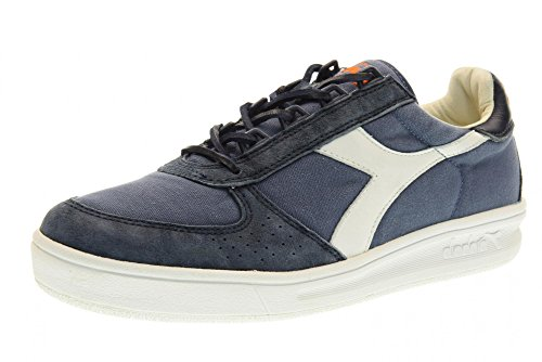 DIADORA UOMO 171397 C2074 SNEAKERS DENIM-BIANCO CANVAS-SUEDE SPRING-SUMMER 2017 Azul