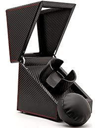 Luxury Carbon Fiber Single Watch Winder, Black Leather Display Box Case [100% Handmade]