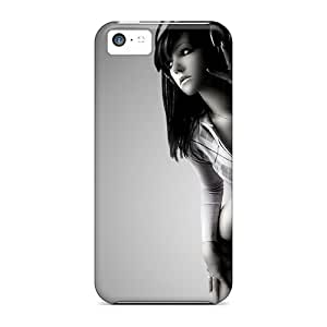 Anti-scratch And Shatterproof New Wave Flipped Phone Case For Iphone 5c/ High Quality Tpu Case