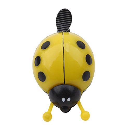 Ornaments Bell Ladybug (Hi-Unique Lovely Ladybug Beetle Cycling Bicycle Ring Bell for Kids,Yellow)