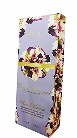SCENTIO Royal Bouquet Sexy & Secret Hand Cream. Moisturizes and softens hand skin, While delivering a touch of Sexy Secret fresh floral scent. (1.01 fl.oz./ pack)