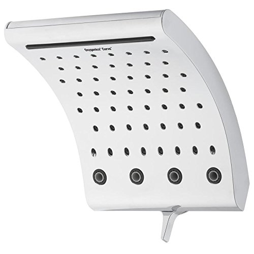 Oxygenics Curve Chrome 3-Spray Rain Shower Head Shower Head