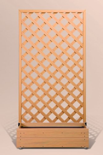 プランタボックス付ウッディープラフェンス 幅90センチx高さ180センチ  ナチュラル色 B006VTILK0 20902