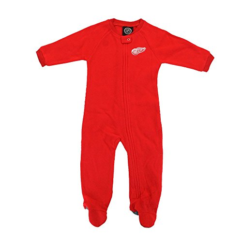 Outerstuff Detroit Red Wings NHL Team Color Coverall Sleeper Blanket Newborn Infant ()