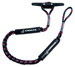 AIRHEAD Bungee Dock Lines absorb shock to boats, cleats, docks, pylons and other hardware. The bungee cord is hidden inside the rope and acts as a built-in snubber. Two foam floats protect the boat from chafing. There's a sliding adjustment a...