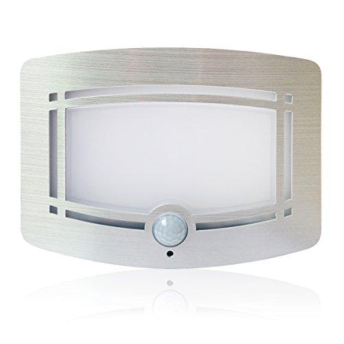 Motion Sensor LED Night Light,Wireless Battery Powered Wall Lamp,Stick Anywhere Wall Sconce,Aluminum Case Closet Light,Safe Light for Stair, Hallway,Bathrom,Bedroom,Kitchen by Kalefu