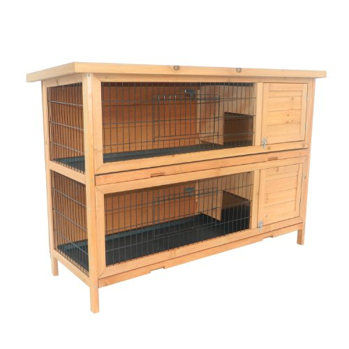 ed Wooden Outdoor Bunny Rabbit Hutch/Guinea Pig House (Guinea Pig Rabbit Hutches)