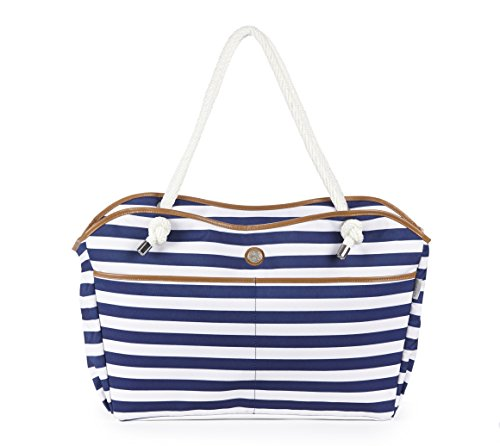 fivesse-water-resistant-beach-bag-nautical-stripe-designed-protective-pockets