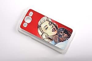 FBA 3 regalo de Navidad - case por Samsung Galaxy Mega 5.8 I9152 Marilyn Monroe Glamour transparent funda