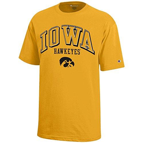 NCAA Champion Boy's Short Sleeve Jersey T-Shirt Iowa Hawkeyes Medium ()