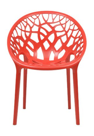 Nilkamal Crystal Chair (Bright Red)