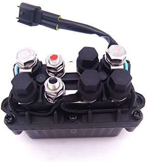 DC-12V 63P-81950-00-00 Trim Relay for Yamaha 63P-81950 25-250Hp Outboard Motor 4 Stroke 2 Pins
