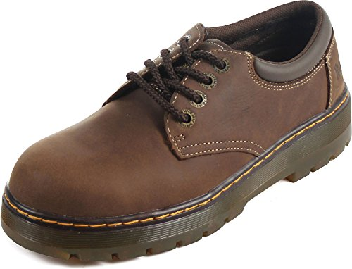 Dr. Martens R16800201 Mens Bolt ST 4 Eye Shoe, Dark Brown - 090 (Dr Martens 4 Eye)