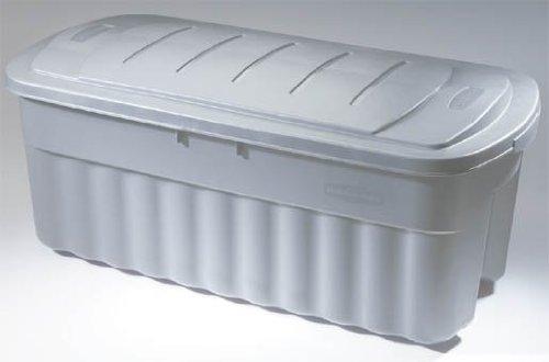 Rubbermaid FG2550CPCYLND Roughneck Storage Box, 50-Gallon, (Garage Storage Bins Large)