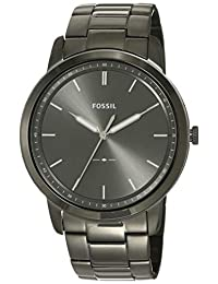 Fossil FS5459 Reloj para Hombre, Extensible, Acero Gunmetal, Caratula Gris, Análogo