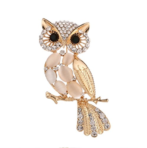 Daisy Jewelry Cute Owl Vintage Brooches and Pins Rhinestone Animal Brooch for Sale