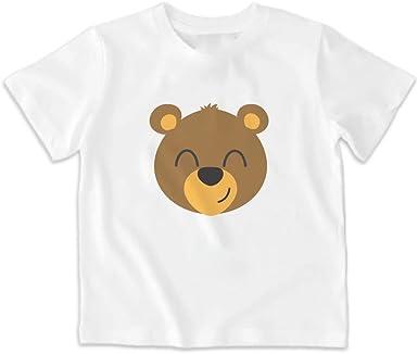 SUPERMOLON Camiseta niño Osito Blanca: Amazon.es: Ropa y accesorios