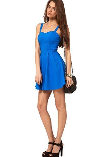 Blue Dress Backless Fashion Nightclub BININBOX Sundress Womens Sexy x4qw0Cn6Z
