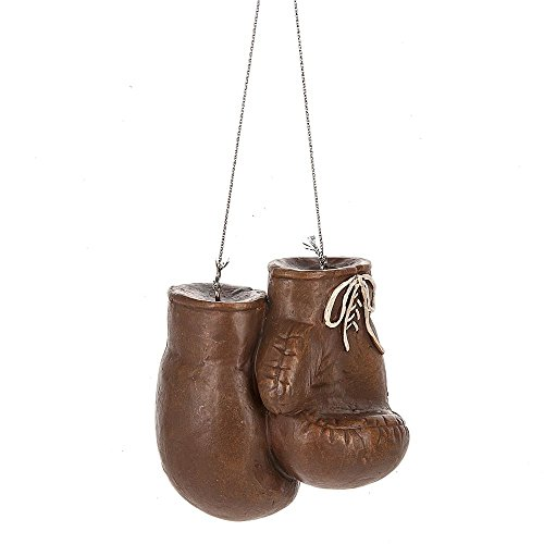 Brown Boxing Gloves Resin Ornament by - Boxing Red Mini Gloves