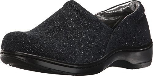 Denim Leather Clogs (Tempur-Pedic Women's Kaydi Closed-Back Clog,Denim Sparkle Fabric,US 6.5 M)