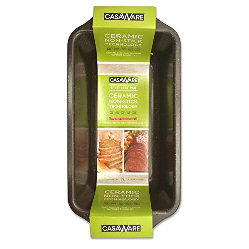 casaWare Loaf Pan 9 x 5-Inch Ceramic Coated Non-Stick (Brown Granite) (9x9 Ceramic Baking Pan compare prices)