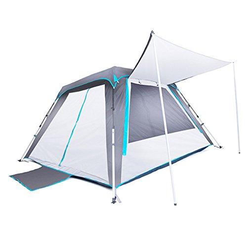 ユーモラス急速な見つけるYDYLZC- テント、アウトドアダブルレイヤーファミリーキャンプ手動換気テント 柔らかい