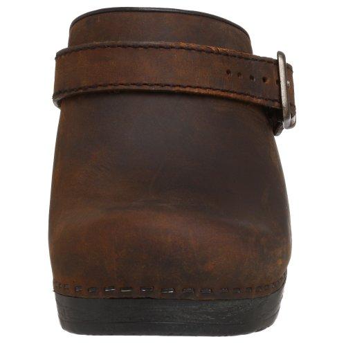Dansko Ingrid Femmes Marron Cuir Chaussures Mocassins Pointure Neuf EU 37
