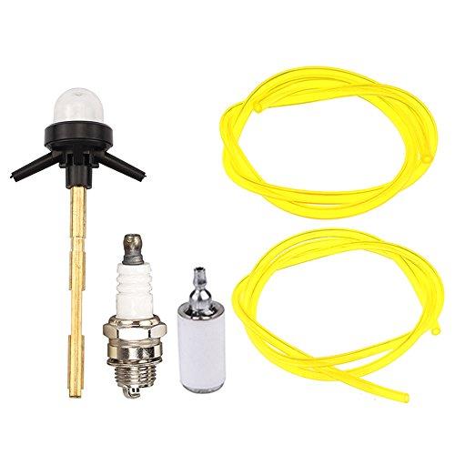 Panari K056704 Carburetor Primer Bulb + Fuel Filter Fuel Line for Poulan 577135901 Weed Eater FX26SCE SST25CE W25CBK W25CF W25CFK W25SB W25SFK String Trimmer ZAMA C1U-W49 ()