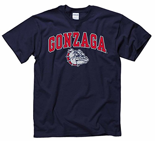 Campus Colors Gonzaga Bulldogs Adult Arch & Logo Soft Style Gameday T-Shirt - Navy, XX-Large (Mens Navy Blue Bull)