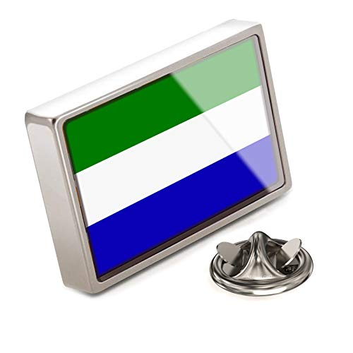 (NEONBLOND Lapel Pin Sierra Leone Flag)