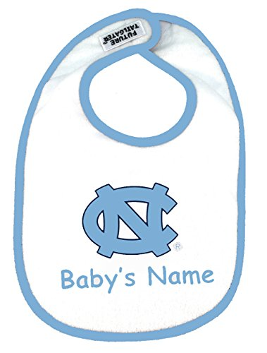 (Future Tailgater North Carolina UNC Tar Heels Personalized 2 Ply Baby Bib)