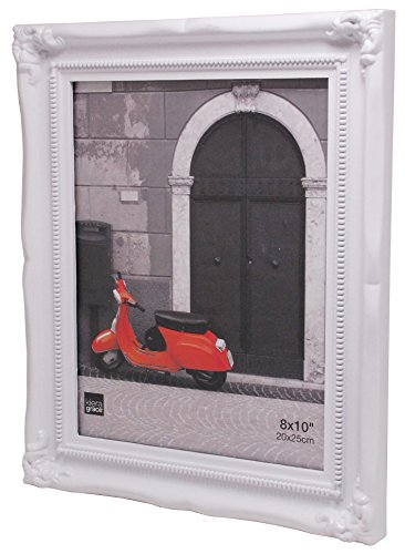 kieragrace Traditional Luxury-Frames, 8 by 10-Inch, White (Decorative Picture White Frames)